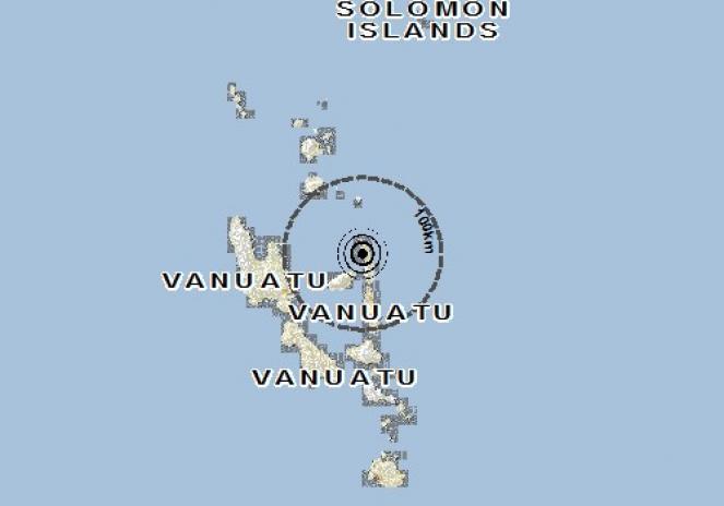 Scossa di terremoto a LUGANVILLE, Vanuatu