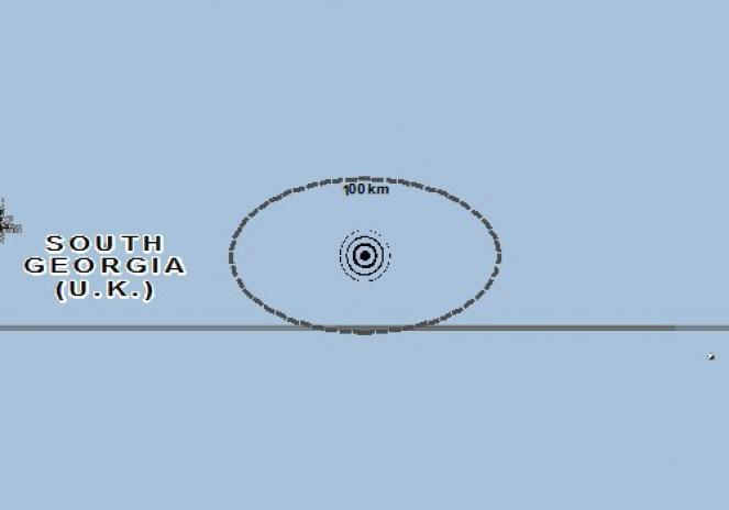 Scossa di terremoto a Grytviken, South Georgia and the South sandwich islands