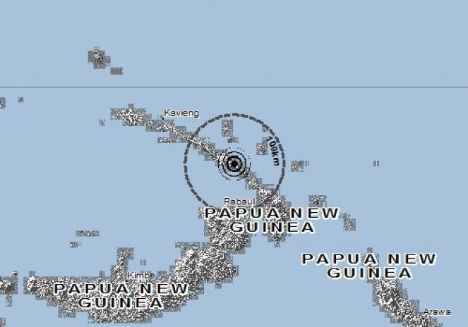 Scossa di terremoto a RABAUL, Papua-Nuova Guinea