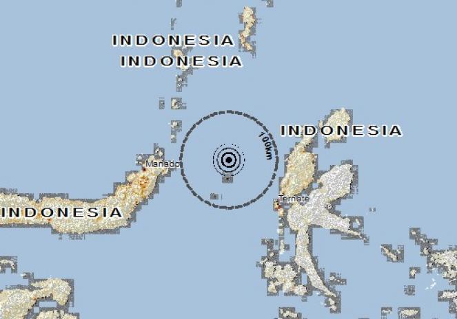 Scossa di terremoto a Bitung, Indonesia