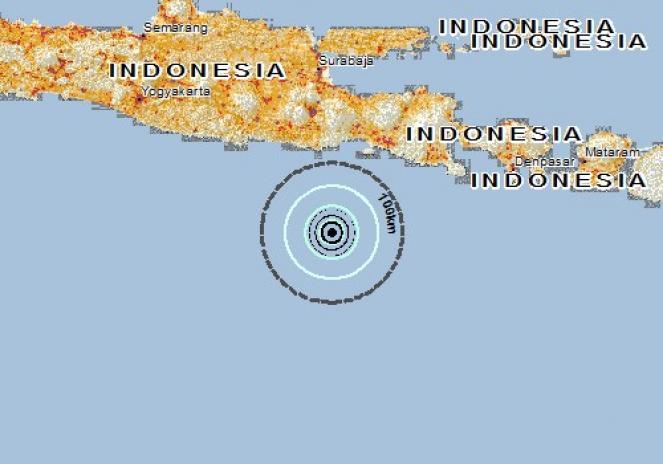 Scossa di terremoto a Dampit, Indonesia
