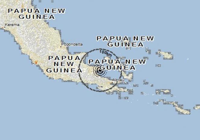 Scossa di terremoto a Popondetta, Papua-Nuova Guinea