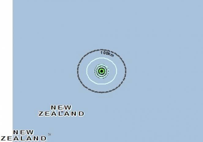 Scossa di terremoto a KERMADEC ISLAND, Nuova Zelanda