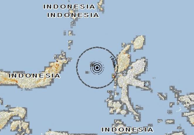 Scossa di terremoto a TERNATE, Indonesia