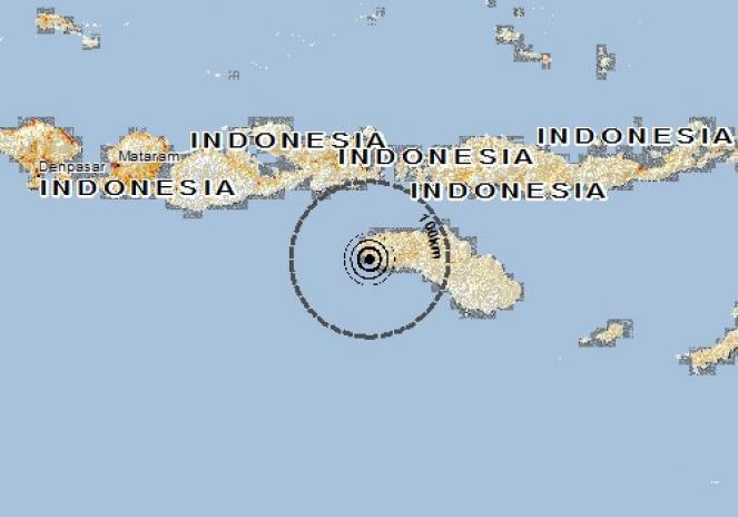 Scossa di terremoto a BIMA, Indonesia