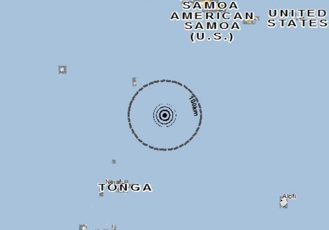 Scossa di terremoto a VAVAU, Tonga