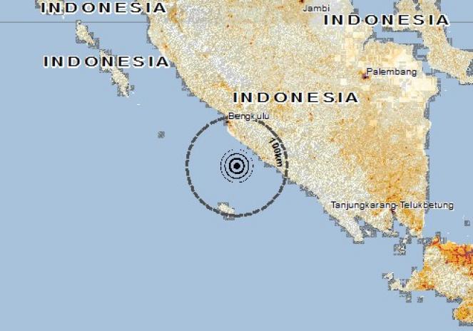 Scossa di terremoto a BENGKULU, Indonesia