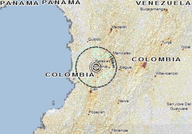 Scossa di terremoto a Roldanillo, Colombia