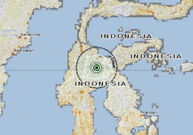 Scossa di terremoto a POSO, Indonesia