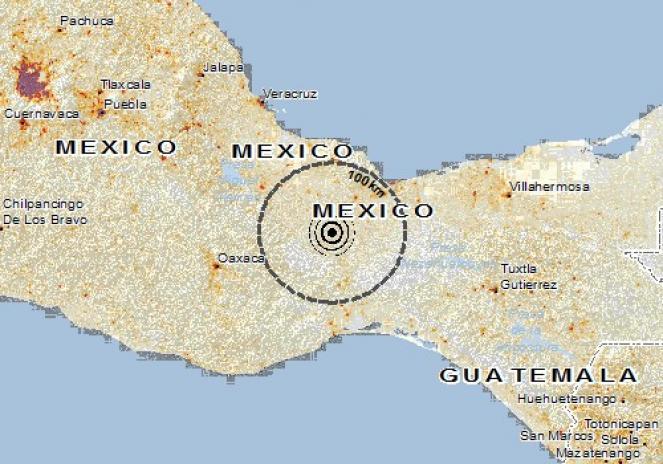 Scossa di terremoto a Acayucan, Messico