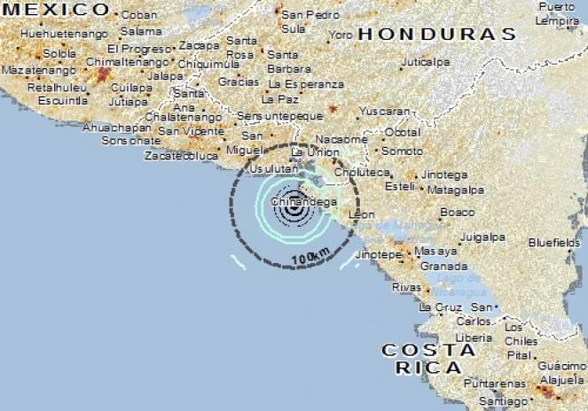 Scossa di terremoto a El Viejo, Nicaragua