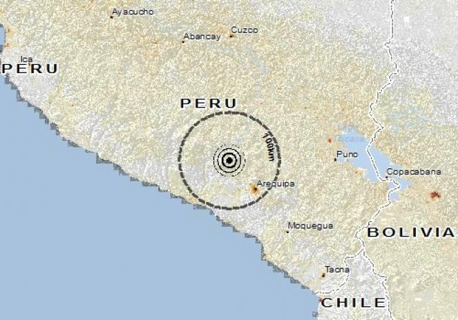 Scossa di terremoto a Huambo, Perù