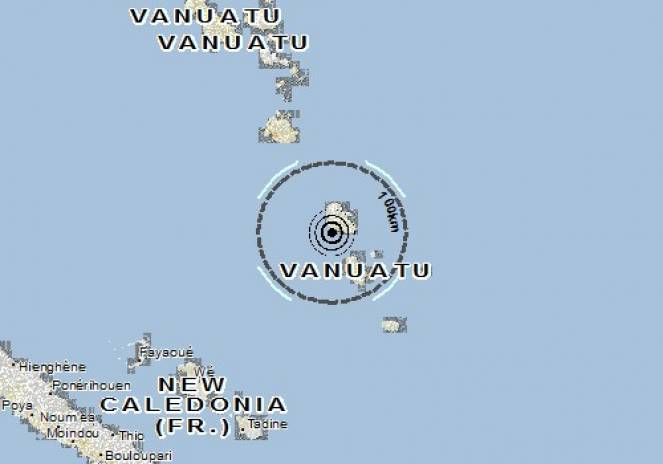 Scossa di terremoto a Isangel, Vanuatu