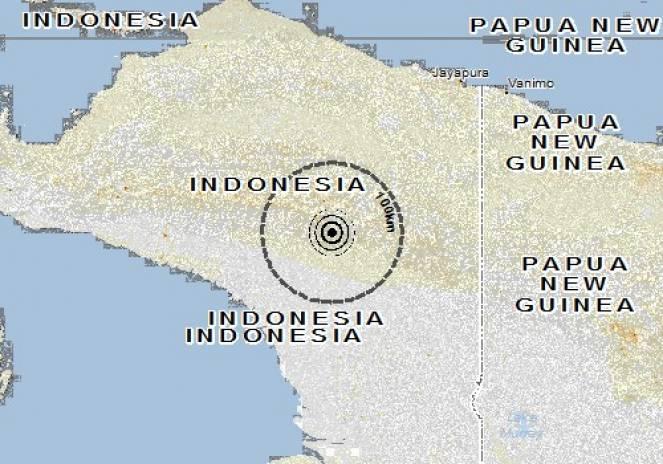 Scossa di terremoto a Sumohai, Indonesia