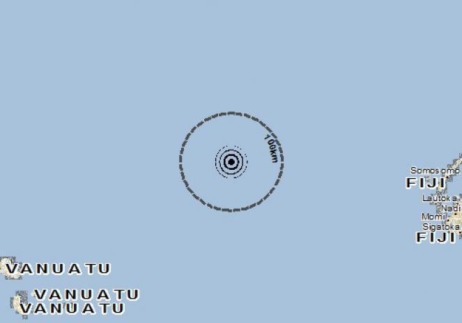 Scossa di terremoto a Lautoka, Fiji