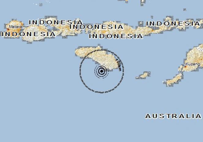 Scossa di terremoto a Nggongi, Indonesia