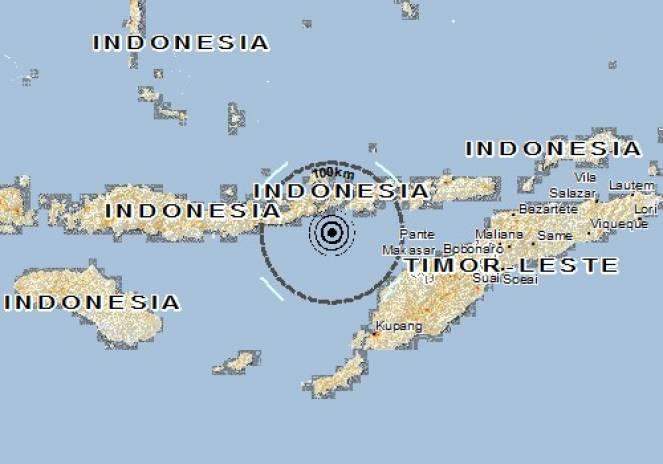 Scossa di terremoto a Ritaebang, Indonesia