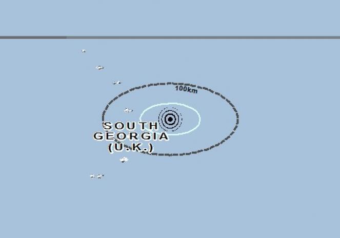 Scossa di terremoto a Grytviken, Georgia del Sud e Isole Sandwich Australi