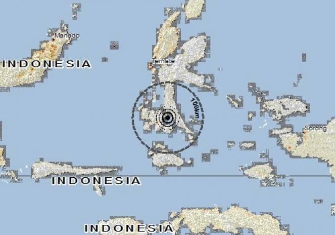 Scossa di terremoto a Labuha, Indonesia