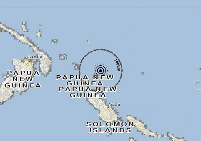 Scossa di terremoto a Buka, Papua-Nuova Guinea