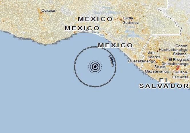 Scossa di terremoto a Pijijiapan, Messico