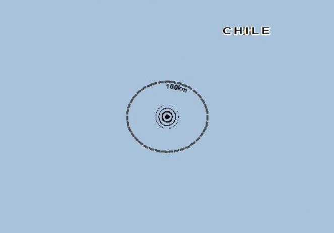 Scossa di terremoto a Mataveri International Airport, Cile
