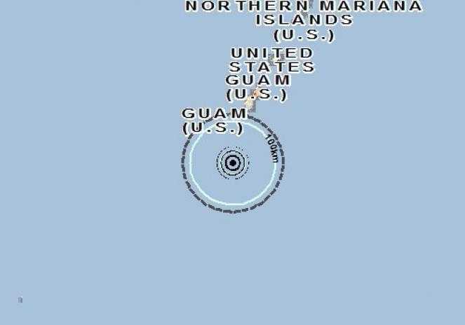 Scossa di terremoto a Merizo Village, Guam