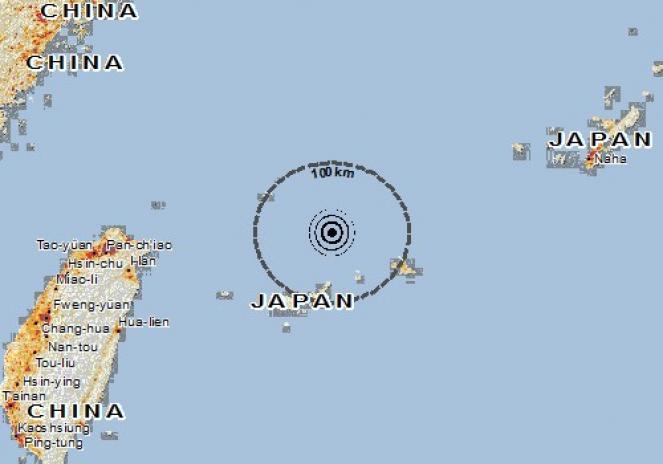 Scossa di terremoto a Tarama Jima, Giappone