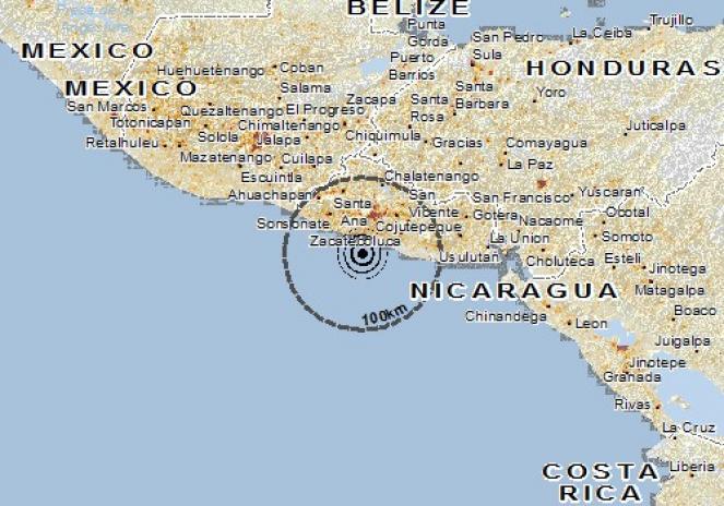 Scossa di terremoto a La Libertad, El Salvador