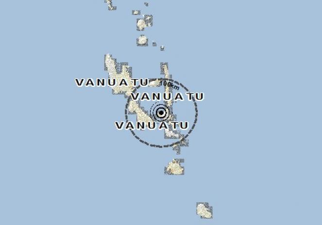 Scossa di terremoto a Lakatoro, Vanuatu