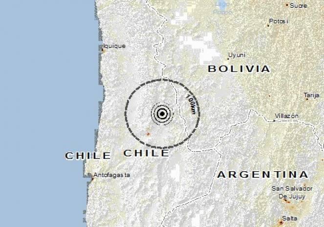 Scossa di terremoto a Calama, Cile