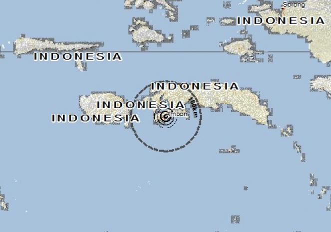 Scossa di terremoto a Passo, Indonesia