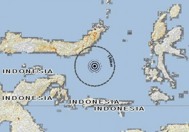 Scossa di terremoto a Tutuyan, Indonesia