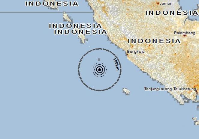 Scossa di terremoto a Ketahun, Indonesia