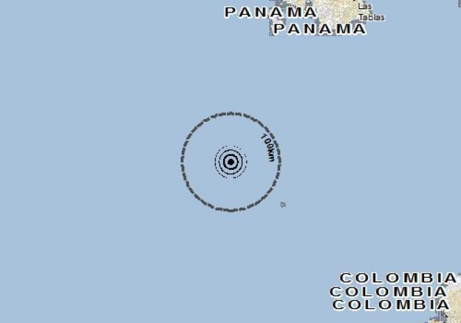 Scossa di terremoto a Corregimiento Arenas, Panama
