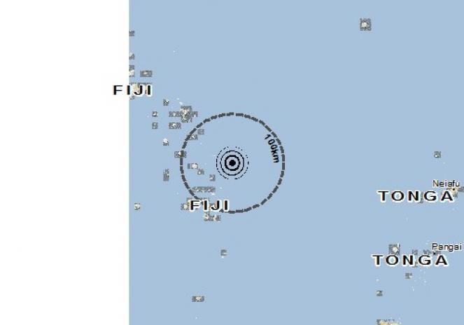 Scossa di terremoto a Levuka, Fiji