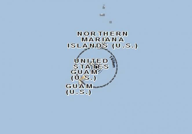 Scossa di terremoto a Rota Island, Isole Marianne settentrionali