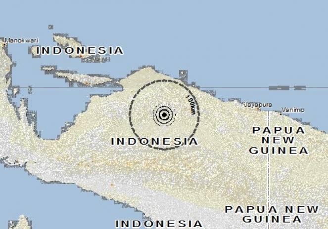 Scossa di terremoto a Burmeso, Indonesia