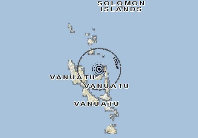 Scossa di terremoto a Saratamata, Vanuatu