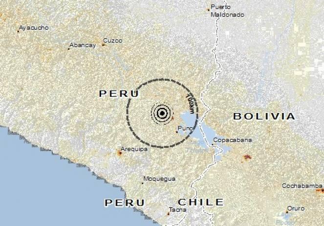 Scossa di terremoto a Lampa, Perù