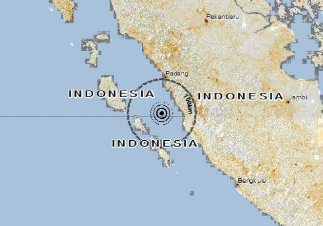 Scossa di terremoto a Kambang, Indonesia