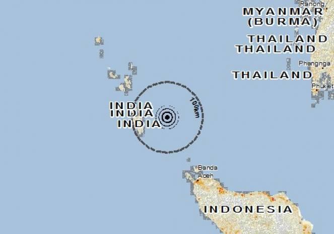 Scossa di terremoto a Sabang, Indonesia
