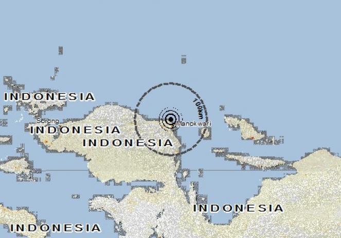 Scossa di terremoto a Manokwari, Indonesia