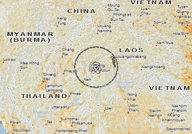 Scossa di terremoto a Chaloem Phra Kiat, Tailandia
