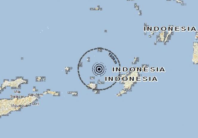 Scossa di terremoto a Saumlaki, Indonesia
