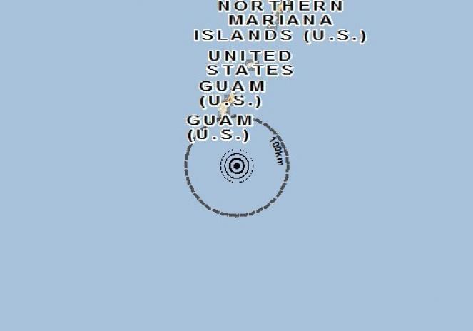 Scossa di terremoto a Inarajan Village, Guam
