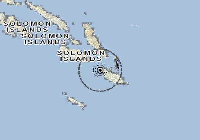 Scossa di terremoto a Kirakira, Isole Salomone
