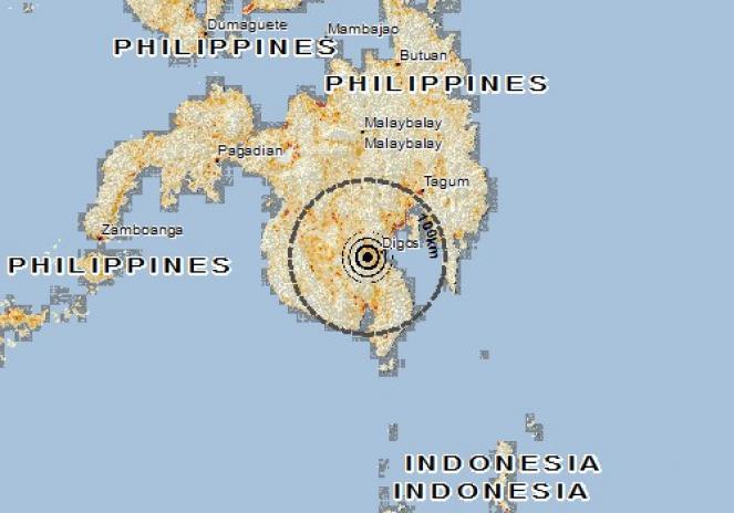 Scossa di terremoto a Magsaysay, Filippine