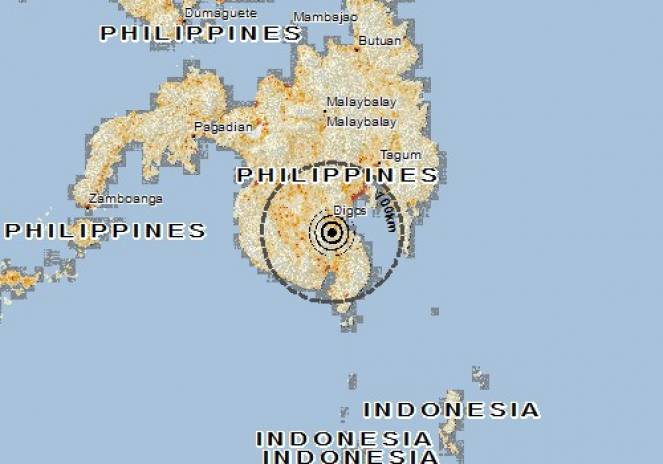 Scossa di terremoto a Kiblawan, Filippine