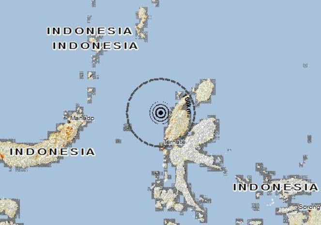 Scossa di terremoto a Tongutisungi, Indonesia